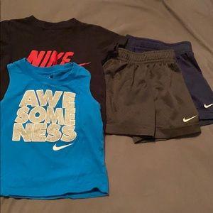 2 Nike shirts & 2 Nike shorts